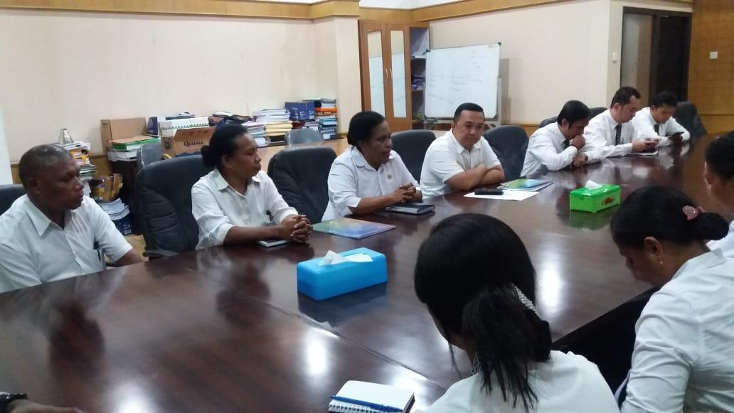 Menerima Kunjungan BPKAD Kab.Waropen Tahun 2018
